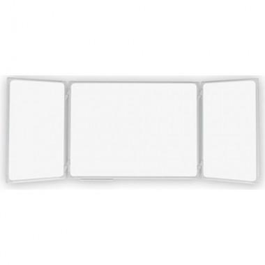 Kelių dalių baltos magnetinės - markerinės lentos