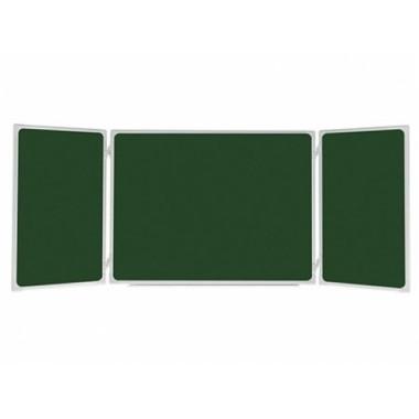 Kelių dalių žalios kreidinės magnetinės lentos