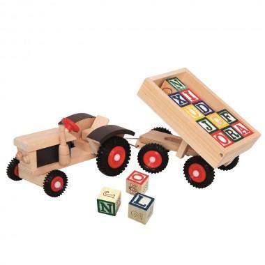 Traktorius su kaladėlėmis 82077