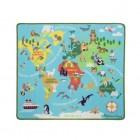 Kilimas pasaulio žemėlapis su aksesuarais 15194