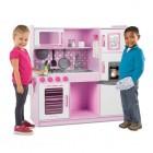 Medinė rožinė didelė virtuvėlė 14002