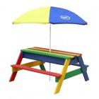 Edukacinis stalas su suolais ir skėčiu AXI A031.004.08