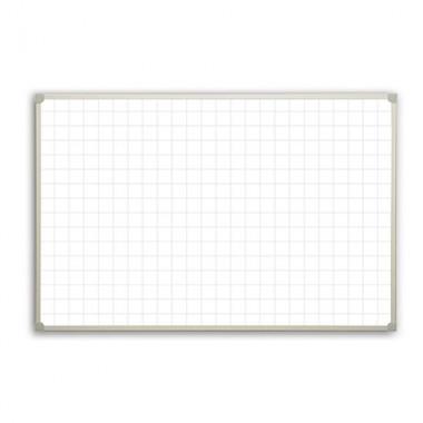 Baltos markerinės magnetinės lentos langeliais ir linijomis