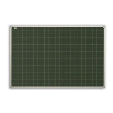 Žalios kreidinės magnetinės lentos langeliais ir linijomis