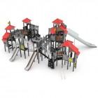 Kompleksinė vaikų žaidimų aikštelė su trim čiuožyklom 3029