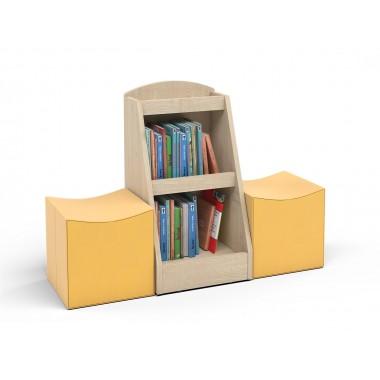 Bibliotekėlė su pufais sėdėjimui 6512745
