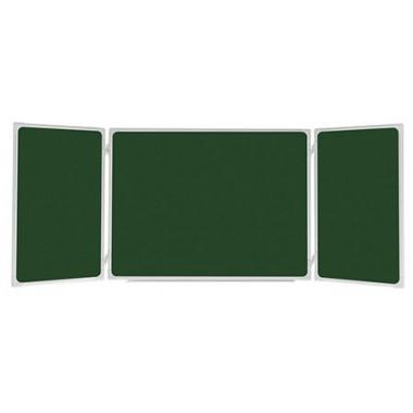 Trijų dalių žalia kreidinė magnetinė lenta aukštis 90cm, vidurinė dalis 120 cm, bendras ilgis 240 cm