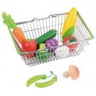 Pirkinių krepšys su daržovėmis