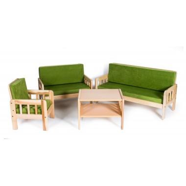 Minkštas sėdimųjų baldų komplektas